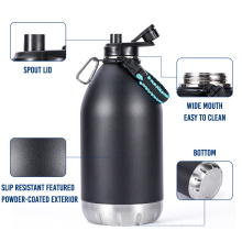 128oz Growler One Gallon Water Bottles Custom Logo Stainless Steel Double Wall Insulated Beer Growler