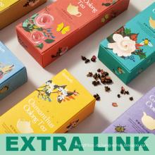Lebensmittelqualität Karton FSC Herstellung Blume Tee Falten Paket Box für Fabrik