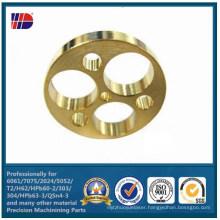 CNC Milling Brass Drilling Holes Auto Parts (WKC-369)