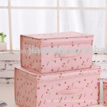 Non woven storage container/foldable storage box for household