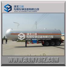 59520L 3 Achsen 12-Räder Clw 59520 Liter LPG Tank Anhänger Preis LPG Gas Tanker Auflieger zum Verkauf