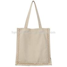 Простой дизайн, отличная цена женщин холст хозяйственная сумка