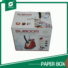 Kundenspezifischer Cmyk-Druck-Pappschachtel für das Haushalts-elektrisches Eisen-Verpacken