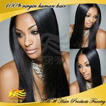 Оптовая цена акции необработанные человеческих волос U часть парик яки