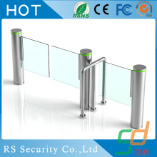 Pedestrian Metro Station Glass Turnstile Software