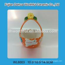 Cesto de Páscoa de cerâmica
