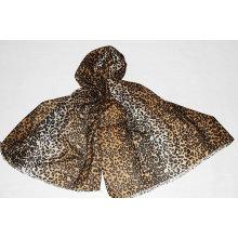 écharpe en laine imprimé léopard