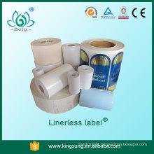 etiqueta de papel laminado lustroso, etiqueta sem papel sem base