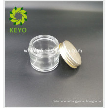 70g clear glass jar with lid for face cream sleeping mask gel cosmetic empty glass jar