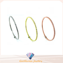 Venta al por mayor simple y joyería de moda 925 brazalete de cortesía de plata (g41281)