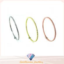 Wholesale Simple & Fashion Jewelry 925 Silver Politeness Bangle (G41281)