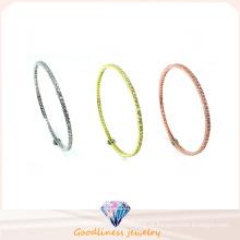 Venda Por Atacado simples e moda jóias 925 prata polidez bracelete (g41281)