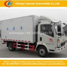 HOWO 4X2 120HP 10cbm Refrigerator Cargo Box Truck