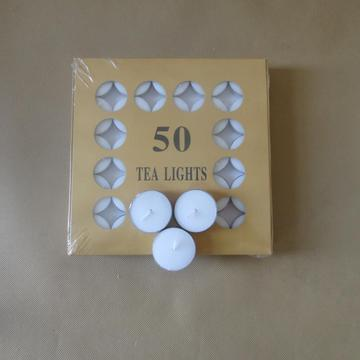 50Pcs صندوق حزمة 14G Snow Tealight شمعة