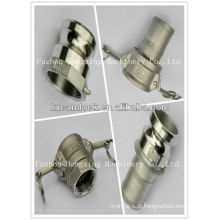 Acoplamento de tubulação de gás em aço inoxidável