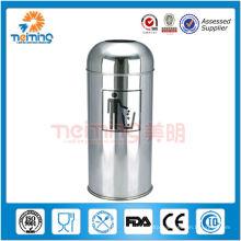Stainless Steel Push Can(outdoor waste bin,rubbish bin)