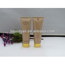 Tubo de embalaje cosmético con tapón de alumita