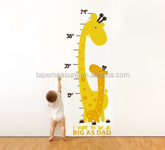 Children Growth Bedroom Colorful Wall Sticker Chart Height Measurement Kids Measuring Sticker