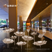 Chinese style new design home decoration piece high quality stainless steel lotus flower set