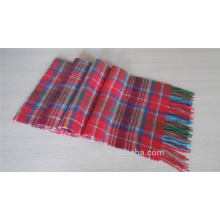 Winter checked warm scarf for women