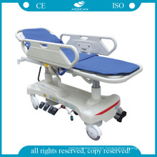 AG-Hs010 with Plastic Bedboard Economic Hospital Stretcher Trolley (AG-HS010)