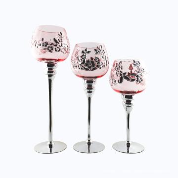 Plum blossom Glass Candle Holder