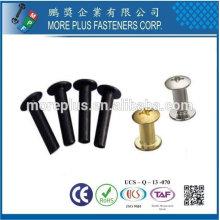 Taiwán Acero Inoxidable Ligero hongo Truss Negro zinc Plated Semi Tubular Rivet