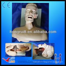 Formation de l'intubation des voies respiratoires médicales, simulateur d'intubation de la cavité bucale ou nasale