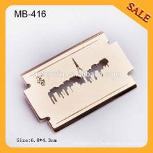 MB416 Coupe du logo haut de gamme Étiquette en forme de lame promotionnelle Étiquette en métal