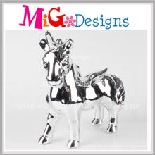 OEM Children′s Day Gift Ceramic Plating Unicorn Coin Bank