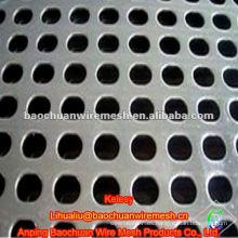 La placa de acero plateada de la alta calidad galvanizó el metal perforado en almacén