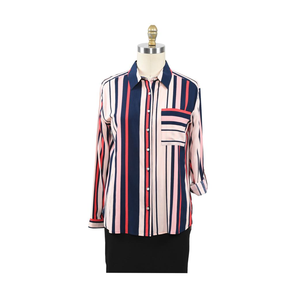 Ladies Tops New Arrival Strips Shirt