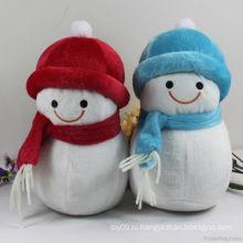 Плюшевые игрушки снеговика Рождества