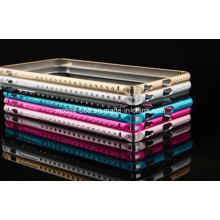 Parachoques de aluminio del metal del diamante de calidad superior para el iPhone 6 más