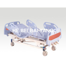 (A-35) Movable Three-Function Manual Hospital Bed with ABS Bed Head