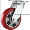 Heavy Duty PU sur roulette pivotante en aluminium