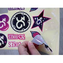 Pegatinas personalizadas con logotipo troquelado de vinilo UV resistente al agua