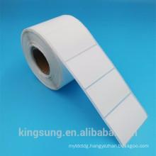 low price semi gloss white paper self adhesive sticker label roll