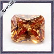 Princesa Corte Amarillo Cushion Loz CZ Gems