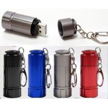 Portable Mini Keychain USB USB rechargeable en aluminium Keychain
