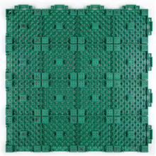 Interlocking court tile for outdoor basketball with cushion