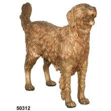 estátua do cão de bronze