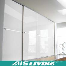 Blanco puro saca los muebles del armario del armario de las puertas (AIS-W016)