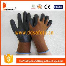 Brown Nylon with Black Nitrile Glove-Dnn710