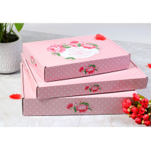 Printed t-shirt shipping box carton mailing box