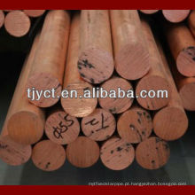 barra da cobre / barra redonda de cobre / haste redonda de bronze