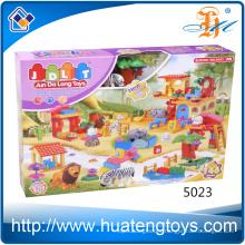 Hot sales 146pcs animal zoo intelligence building blocks toys for kids