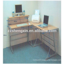 Wooden Metal Frame Computer Table Design for Home