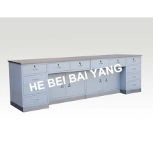 Composite Working Table with Stainless Steel Surface and Base