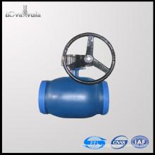 PN25 válvula de esfera aço carbono água Soldagem esfera válvula DN15-300 pilão